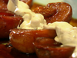 Caramelized Pears with Rum Raisin Mascarpone