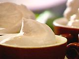 Espresso Panna Cotta with Cocoa Whipped Cream