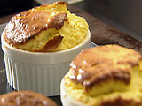 Blue Cheese Souffle with Fresh Figs and Honey