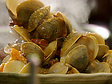 Steamed Clams with Chorizo, Citrus and Saffron Aioli