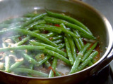Sauteed Green Beans with Soy, Shallots, Ginger, Garlic and Chile