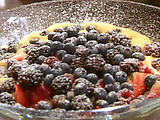Lemon Sabayon with Fresh Wild Berries