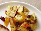Semolina Bread-Apple Stuffing With Dried Cranberries and Apricots