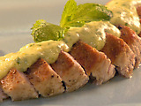 Herb-Roasted Turkey Tenderloin with Mango, Lime And Ginger Dressing And Roasted Sweet Potatoes