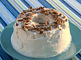 Pecan Cinnamon Angel Food Cake