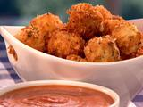 Fried Mozzarella Balls with Marinara Cream Sauce
