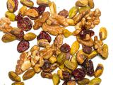 Cinnamon Sugar-Spiced Walnuts and Pistachios with Dried Cranberries