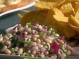 Texas Caviar (Black-Eyed Pea Dip) with Homemade Tortilla Chips