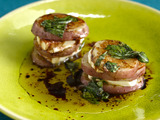 Grilled Potato and Goat Cheese Napoleon with Balsamic-Basil Vinaigrette