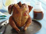 Beer Can Chicken with Cola Barbecue Sauce