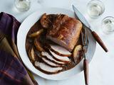 Roast Pork Loin with Pears and Cranberries