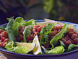 Lime Shrimp Lettuce Wraps