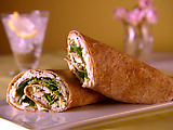 Rolled Chicken Sandwich with Arugula and Parsley Aioli