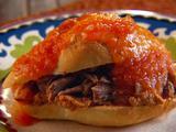 Braised Pork Sandwich with Spicy Tomato Broth (Tortas Ahogadas)