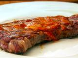 New York Steak with Roasted Garlic and Ancho Butter
