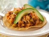 Shredded Spicy Chicken Tostadas (Tinga)