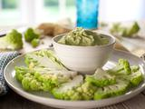 Cauliflower with Avocado-Cilantro Dip