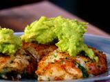 Spicy Crab Cakes Topped with Guacamole