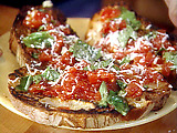 Late Summer Tomato Bruschetta
