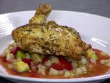 Pan Seared Chicken, Strawberry Avocado Relish