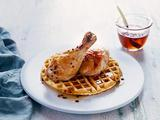 Butter Roasted Chicken with Grit Waffles