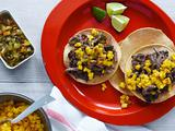 Steak and Black Bean Chalupas
