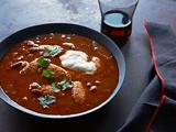 Spicy Mexican Chili with Chicken Finger Dumplings