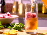 Lemon-Ginger Iced Tea with Berry Cubes