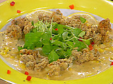 Crispy Fried Oysters with a Chili-Corn Sauce