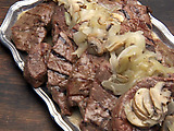 Much Ado about Mushroom Beef Steaks Poached in Ale