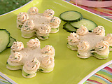 Cucumber Tea Sandwich Flowers