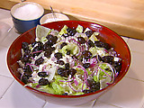 Feta, Black Olive, and Oregano Salad (aka Pizza Parlor Salad)