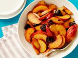 Peaches with Balsamic Cherries