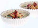 Cold Cauliflower Soup with Bacon and Croutons