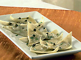 White Bean Ravioli with Brown Butter and Caper Sauce