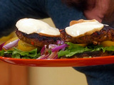 "Turkey Cacciatore Burgers on Portobello ""Buns"""