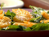 Spinach and Arugula Salad with Orange