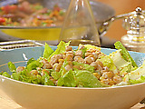 Salad with Toasted Chickpeas and Olive Vinaigrette