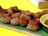 Sage Sausage Bites with Balsamic Apricot Dip