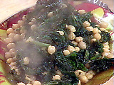 Garlic Chick Peas and Greens