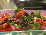 Puttanesca Tomato Salad with Fried Capers