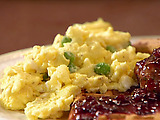 Savory Eggs with Peas and Shallots