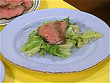 Beef Brutus: Caesar Salad with Sliced Sirloin Steak