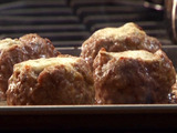 Gorgonzola Filled Meatballs, Bay and Onion Creamy Tomato Gravy