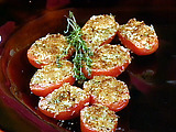 Garlic and Herb Broiled Tomatoes