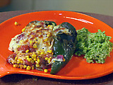 Charred Chili Relleno with Green Rice