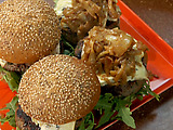 Blue-rugula Burgers