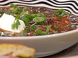 Black Bean Stoup and Southwestern Monte Cristo Sandwiches