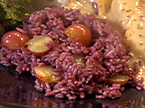 Red Wine Rice with Grapes