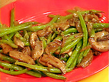 Green Beans and Portobello Mushroom Saute